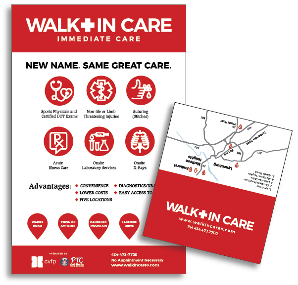 Walk In Care Print Collateral