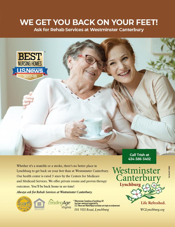 Westminster Canterbury Retirement Home Print Ad Stimulus Advertising